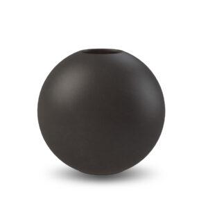 Schwarze Kugelvase Cooee Design 8 cm