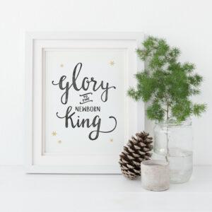"Weihnachtskarte ""Glory to the newborn King"" Lifeprints"