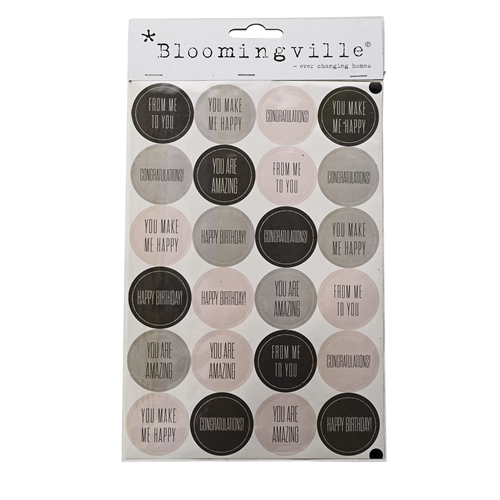 Aufkleber/Sticker Bloomingville Schwarz Grau Rosa