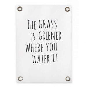 "Gartenposter Sipp Outdoor ""The grass is greener"" Villa Madelief"