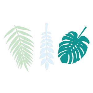 Deko Blätter Grün Blau Delight Department