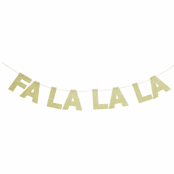 Buchstabengirlande FALALA Gold Delight Department