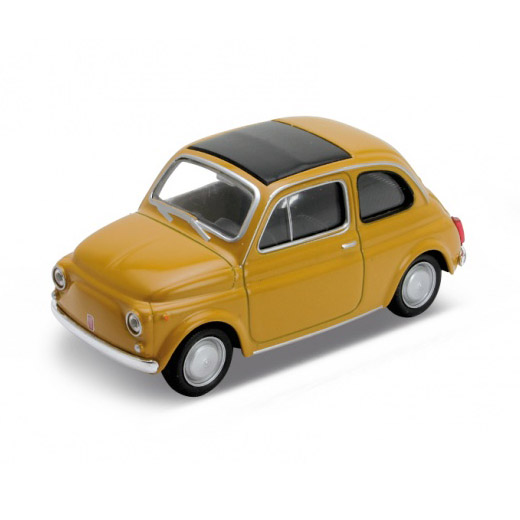 Fiat 500 Modellauto Ockergelb