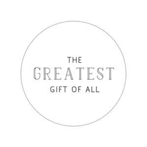 Geschenkaufkleber Greatest Gift Weiss