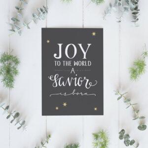 "Weihnachtskarte ""Joy to the World"" Lifeprints"