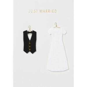 Just Married Glückwunschkarte Räder Villa Madelief