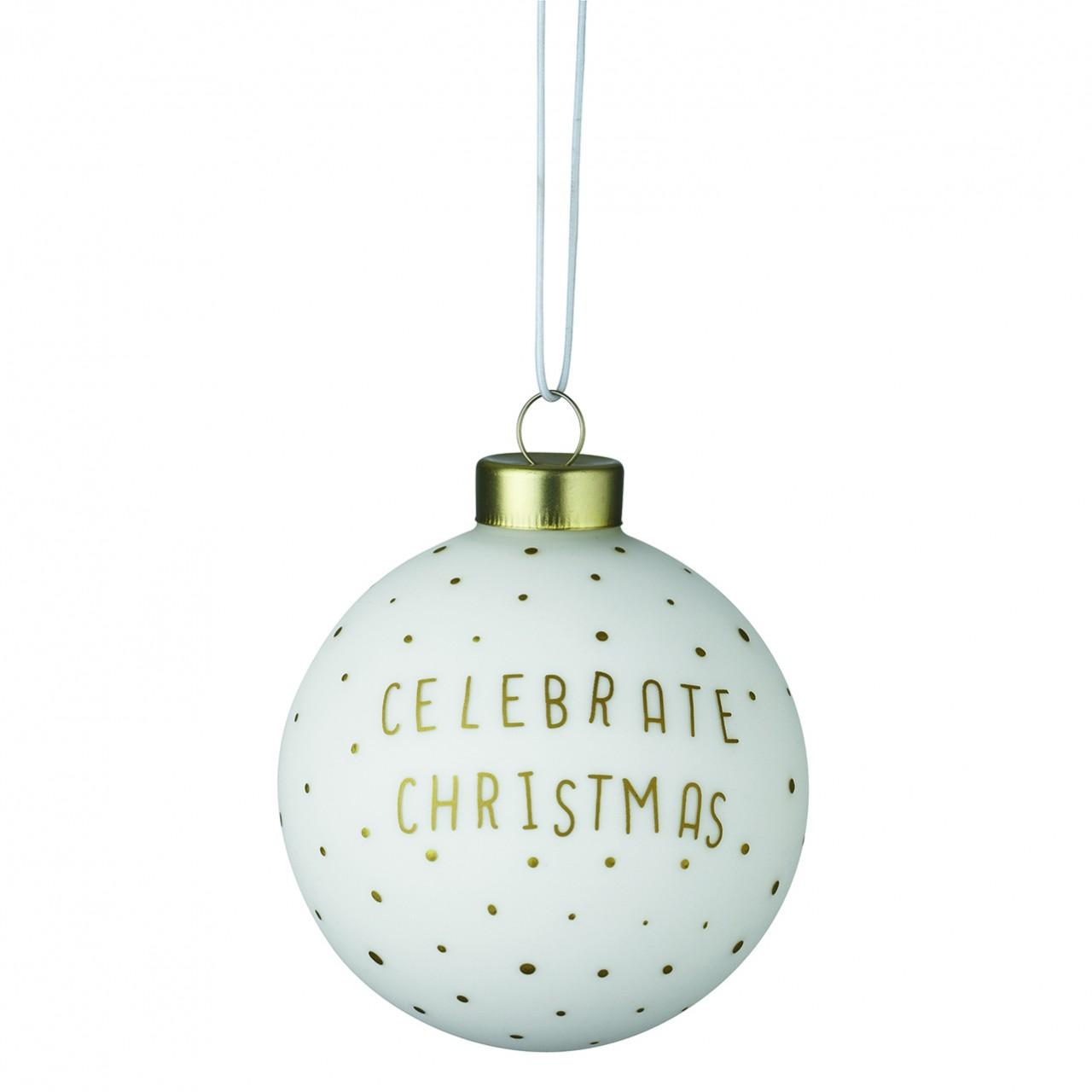 Christbaumkugeln Weiß Gold.Räder Weihnachtskugel Celebrate Christmas Weiss Gold
