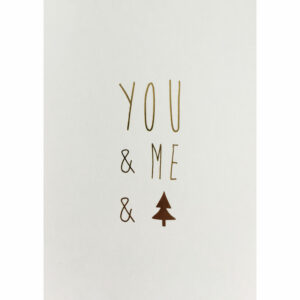 Weihnachtskarte you me christmastree Räder