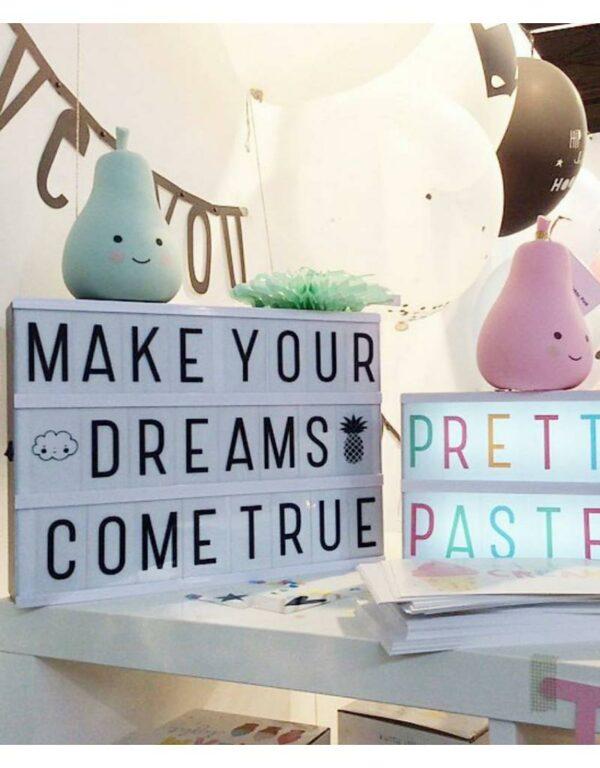 Buchstabenset PastellLightbox A Little Lovely Company