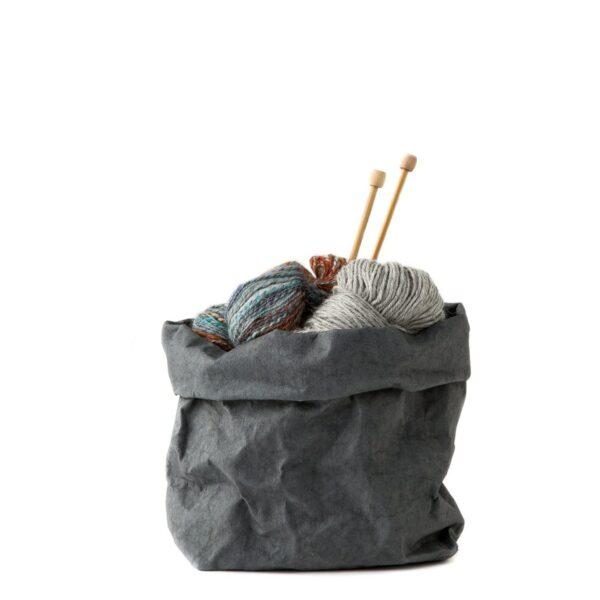 Paperbag Dunkelgrau Uashmama medium Villa Madelief