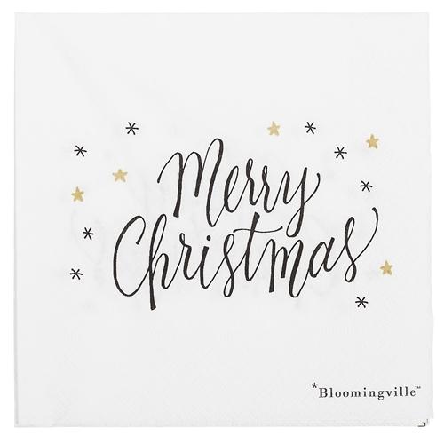 Weihnachtsservietten Merry Christmas Bloomingville Villa Madelief