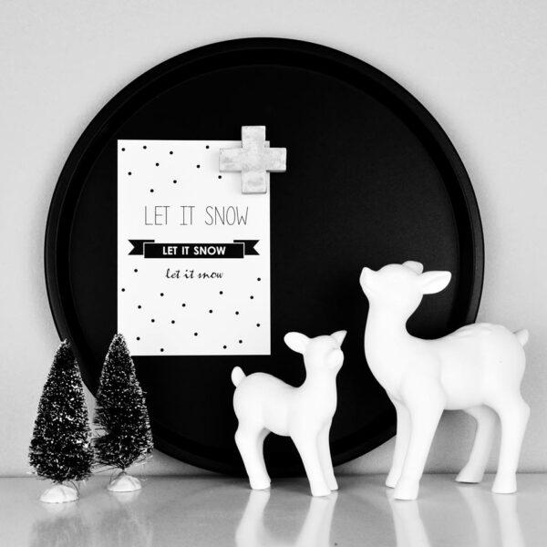 Miniatur Weihnachtsbäumchen 4er Set