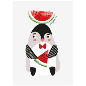 Pinguin Poster/Karte Sparkling Paper