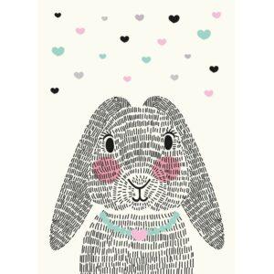 Postkarte Mrs. Rabbit Sparkling Paper