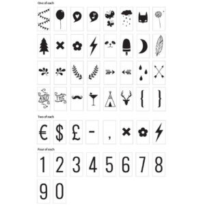 Symbolen Set für Lightbox A Little Lovely Company