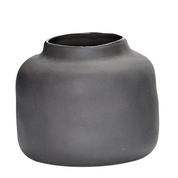 Vase Pastell Hübsch dunkelgrau