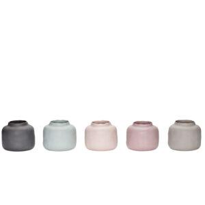 Vasen Pastell Hübsch 5er Set