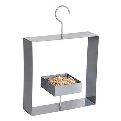 Design Vogelfutterhäuschen grau