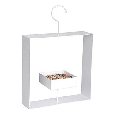 Design bird feeder white