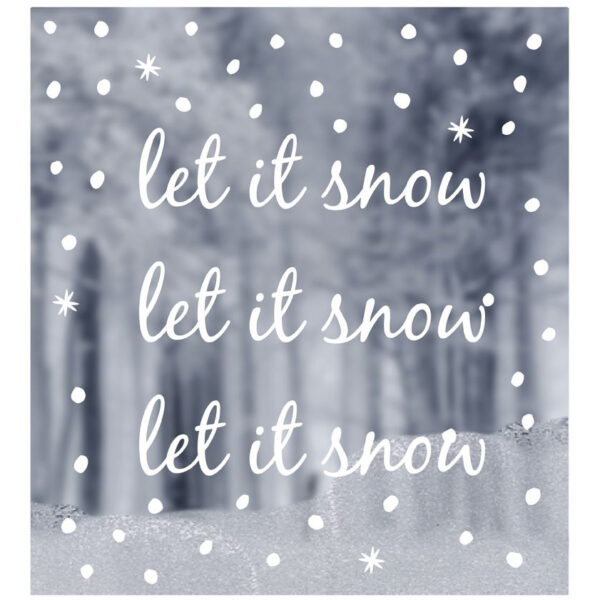 Delight Department Fenstersticker Let it snow Villa Madelief