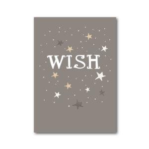 hippe kerstkaart wish