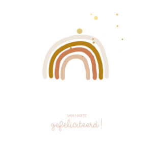 Huis van Mijn kaart gefeliciteerd regenboog Villa Madelief