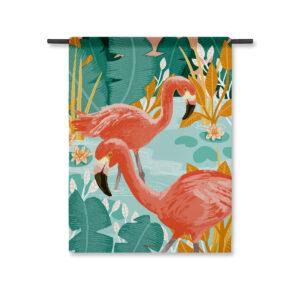 Wandkleed Flamingo
