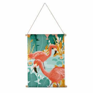 Interieurbanner flamingo