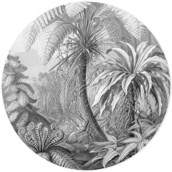 Muursticker jungle zwart wit