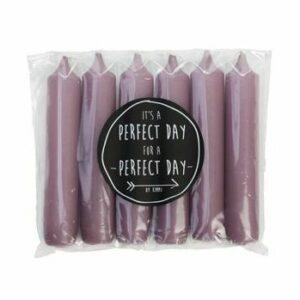 Rustik lys cadeau dinerkaars paars