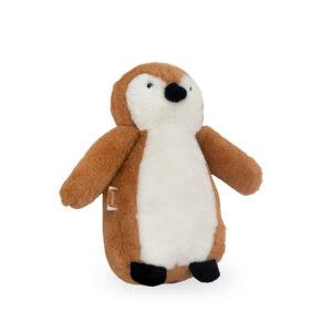 Knuffel pinguïn caramel