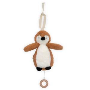 Muziekhanger pinguïn caramel
