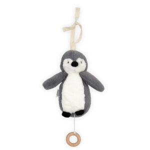 Muziekhanger pinguïn grijs