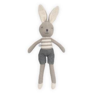 Knuffel konijn grijs